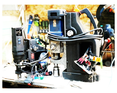 Ремонт сверлильного станка на магните MAB 100
